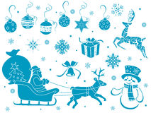 Set of Christmas stencils Royalty Free Stock Photography