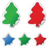 Set Christmas  stickers Royalty Free Stock Image