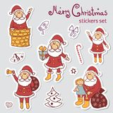Set of Christmas stickers Royalty Free Stock Photo