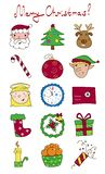 Set of Christmas stickers royalty free stock image