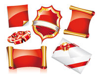 Set of Christmas Stickers or Icons Stock Photography