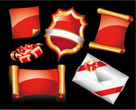 Set of Christmas Stickers or Icons Royalty Free Stock Images