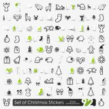 Set of Christmas stickers Royalty Free Stock Images