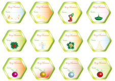 Set Christmas stickers Stock Photos