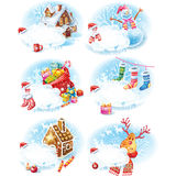 Set of Christmas stickers Royalty Free Stock Photos