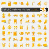 Set of Christmas stickers Stock Images