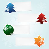 Set of christmas stickies Royalty Free Stock Images