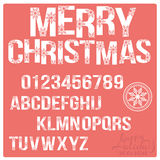 Set of Christmas stylized alphabet and numbers Royalty Free Stock Photography