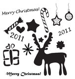 Set of christmas symbols Stock Images