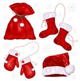 Set of Christmas symbols Stock Images