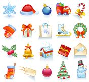 Set of Christmas symbols. Royalty Free Stock Photo