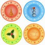 Set of christmas symbols Stock Image