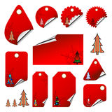 Set of Christmas tags Royalty Free Stock Image