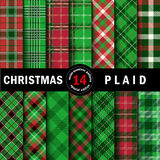 Set Christmas Tartan Seamless Patterns. Vector illustration Stock Illustration