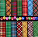Set Christmas Tartan Seamless Patterns. Vector illustration Royalty Free Illustration