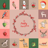 Set with Christmas templates. Stock Photography