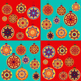 Set of Christmas toys on a bright background Royalty Free Stock Photos