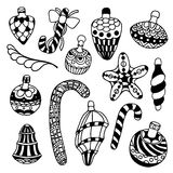 Set of Christmas toys Royalty Free Stock Images