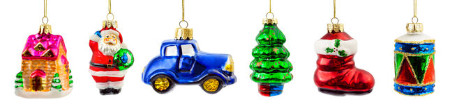 Set of christmas toys Stock Image