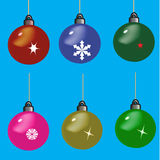 Set of Christmas toys Royalty Free Stock Photography