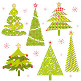Set of Christmas tree royalty free stock photo
