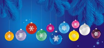 Set of Christmas tree ball Royalty Free Stock Image