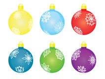 Set of christmas tree balls Royalty Free Stock Photos