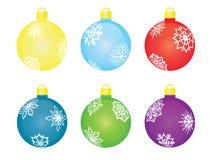 Set of christmas tree balls. Vector illustration Royalty Free Stock Photos