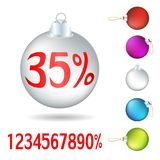 Set of Christmas tree balls. On a white background Royalty Free Stock Photo
