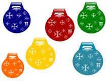 Set of christmas-tree decorations Royalty Free Stock Photography