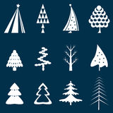Set of Christmas tree design Stock Photos
