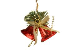 Christmas Tree Ornament, ball, decorations. Isolated white background. Royalty Free Stock Photos
