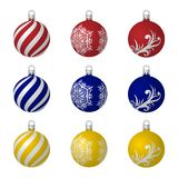 Set of christmas tree toys in realistic style. vector illustration