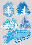 Set Christmas trees Royalty Free Stock Photography