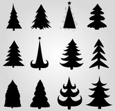 Set of christmas trees Stock Photography