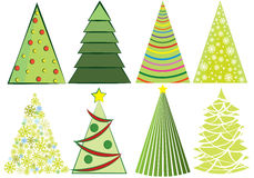 A set of Christmas trees Royalty Free Stock Image