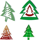 A set of Christmas trees Royalty Free Stock Photography