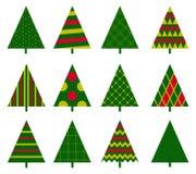 Set of Christmas trees Royalty Free Stock Photo