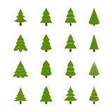 Set of Christmas trees,  illustration Royalty Free Stock Images