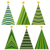 Set of Christmas trees. Royalty Free Stock Images