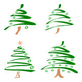 Set of christmas trees. Vector. Set of abstract christmas trees. Vector Royalty Free Stock Photos
