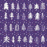 Set of christmas trees1 Royalty Free Stock Images
