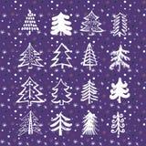 Set of christmas trees4 Royalty Free Stock Image