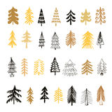 Set of christmas trees3 Royalty Free Stock Images