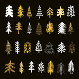 Set of christmas trees2 Royalty Free Stock Photo