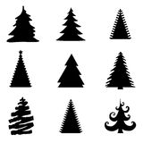 Set of Christmas Trees Vectors Stock Image