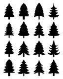 Set of  Christmas trees Royalty Free Stock Image
