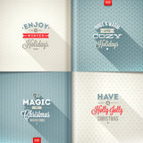 Set of Christmas type design Stock Images