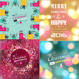 Set of Christmas typography templates. Royalty Free Stock Images