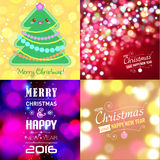 Set of Christmas typography templates. Stock Photography